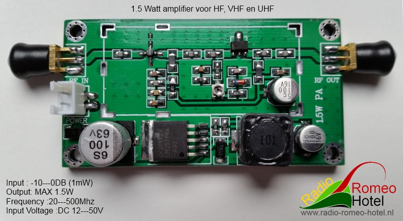 Wideband Amplifier voor 4.5 meter zender