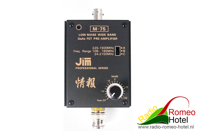 JIM-M75 Pre-amplifier voor 35cm en 23cm geschikt.